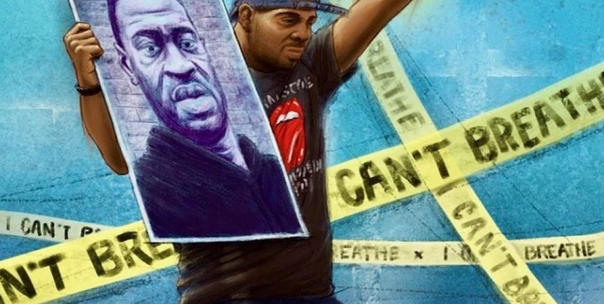 George Floyd poster created for march protesting police brutality