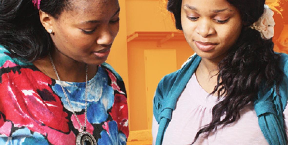 Siyamphumelela Initiative, two students working together