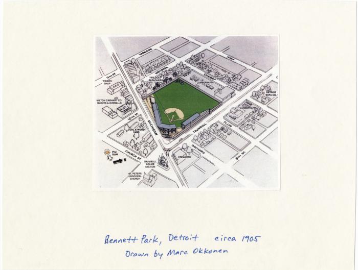 Map of Bennett Park 1905