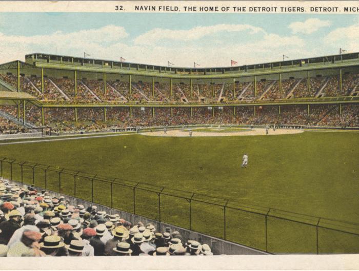 Navin Field postcard