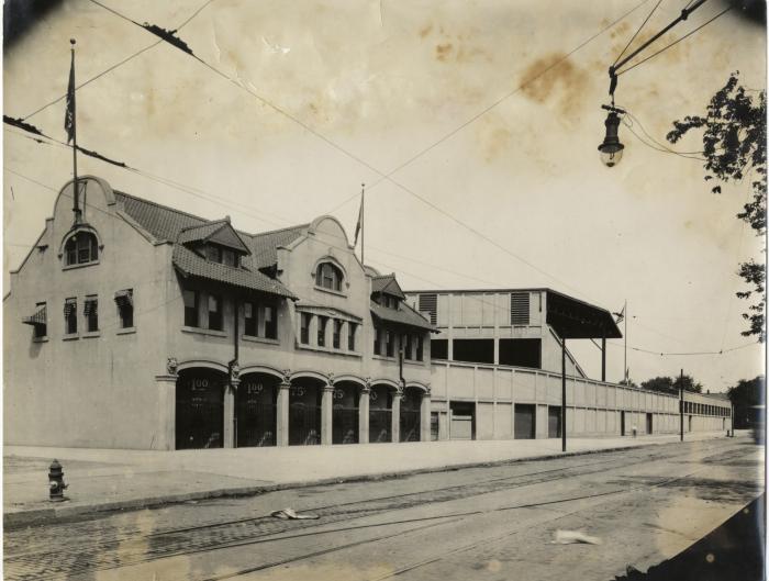 Navin Field entrance, 1912