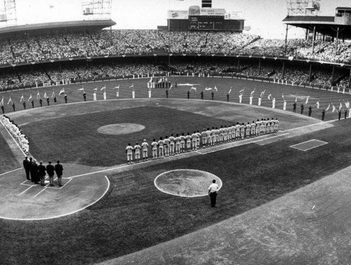 Tiger Stadium, National Anthem