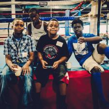 Picture of youth ringside at Detroit Youth Boxing Gym