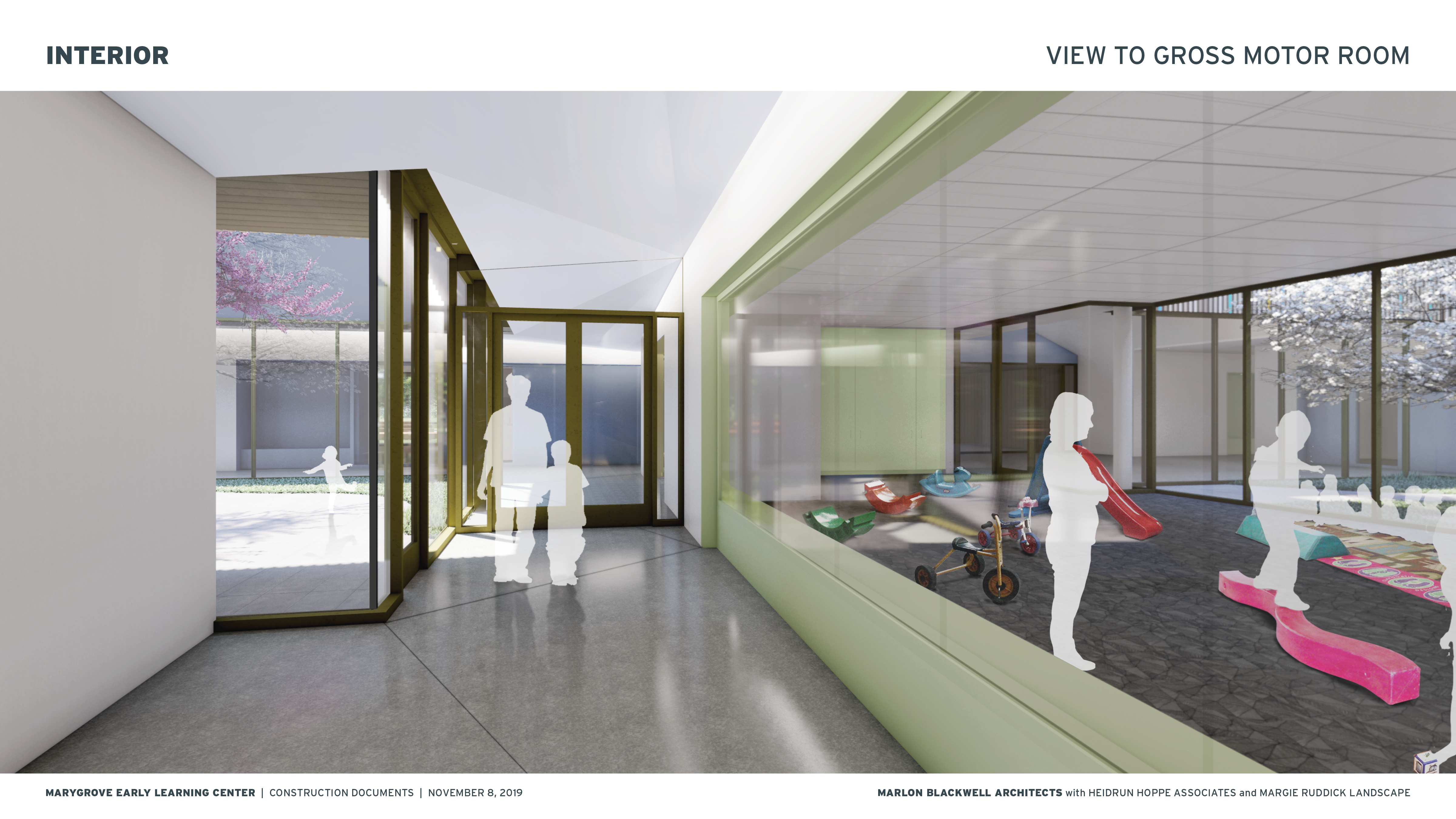 Interior rendering of Early Childhood Education center on Marygrove campus