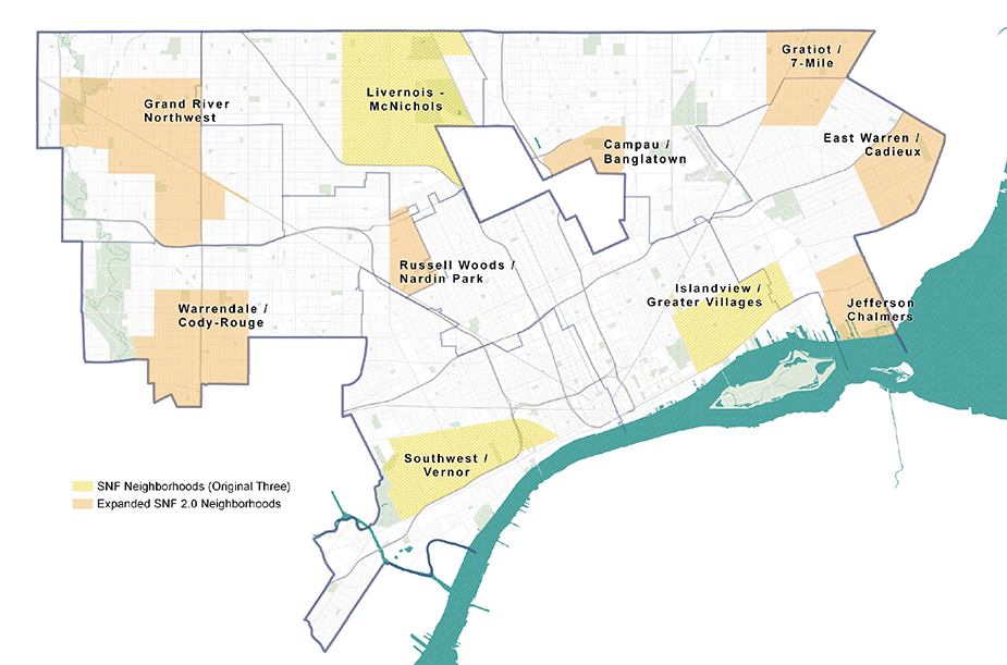 Map of neighborhoods in Strategic Neighborhood Fund 2.0