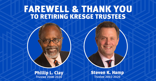 Retiring Kresge Trustees Philip L. Clay and Steven K. Hamp