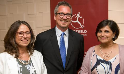 Kresge Education Program Managing Director Bill Moses with Dianne Parker, South Africa's Deputy Director-General: University Education, and Nazeema Mohamed, new executive director of Inyathelo.