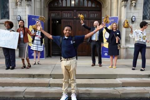 Enthusiastic opening day at Marygrove School
