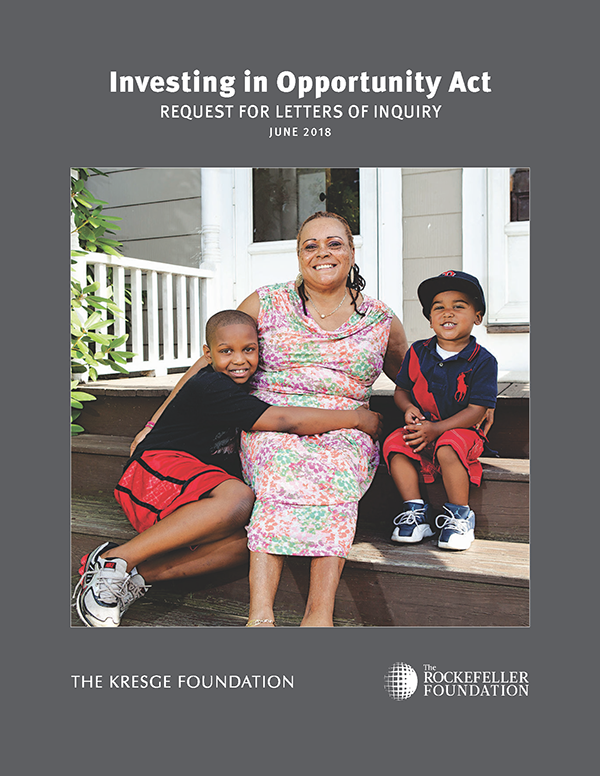 Image of LOI request for new Kresge and Rockefeller U.S.community development initiatives