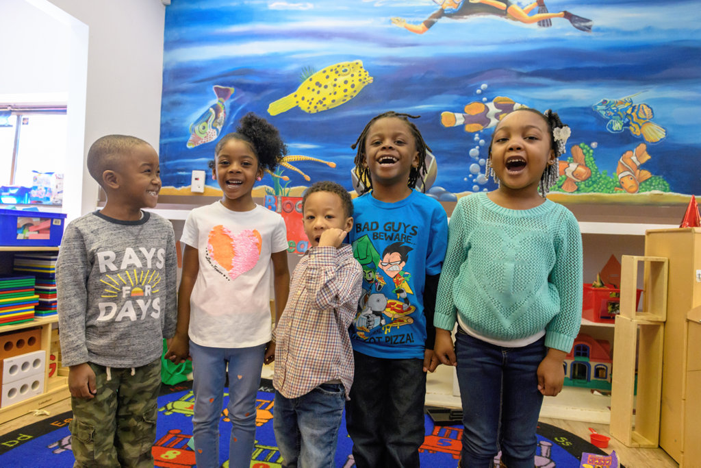 Children at Brainiacs Clubhouse Child Development Center