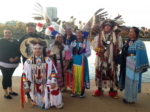 A troupe of Native American dancers performed at the conference