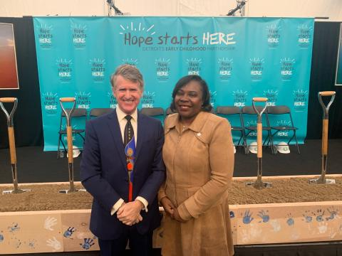 Kresge President and CEO Rip Rapson and Wendy Lewis Jackson, ManagingDirector of the Detroit Program