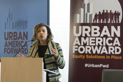 Photo of Chantel Rush at Urban America Forward conference