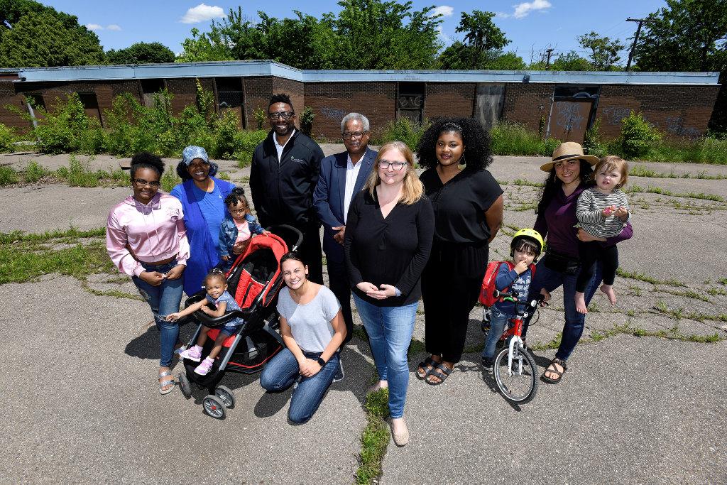 Woodward Neighborhood Development Corp. supporters.
