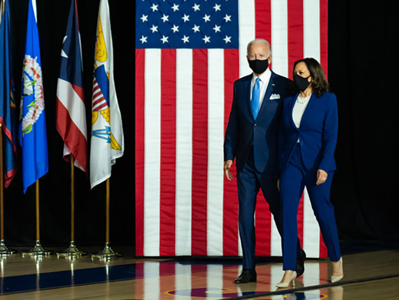Announcement of Sen. Kamala Harris as candidate for vice president of the United States in Wilmington, Delaware, on Aug. 12, 2020.