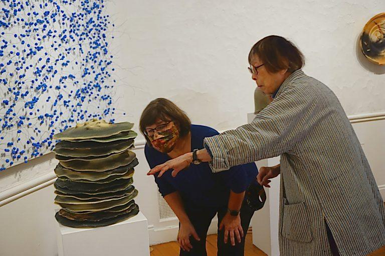 Marie Woo, MaryAnn Wilkinson at Scarab Club