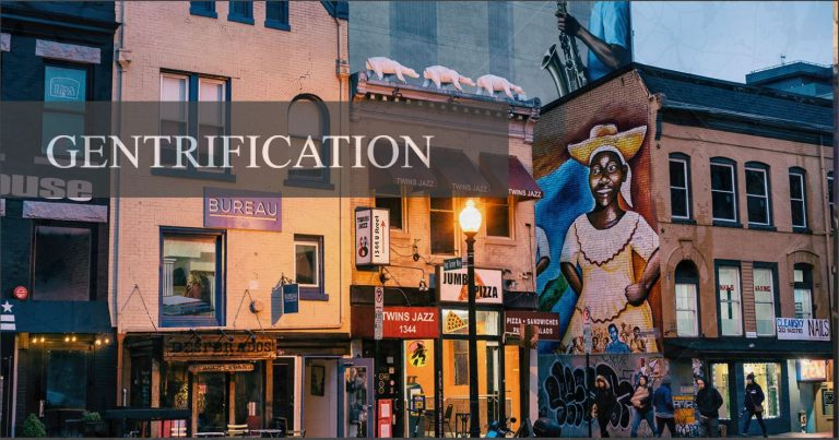 Murals and restaurants line a section of U Street, N.W., a historically Black neighborhood in Washington, D.C. (Photo by Mike Maguire via Flickr)