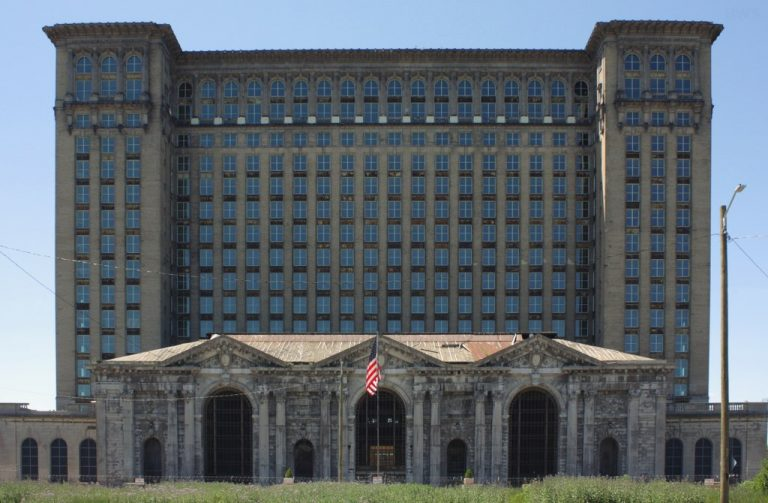 The Michigan Central Station in Detroit in 2016.