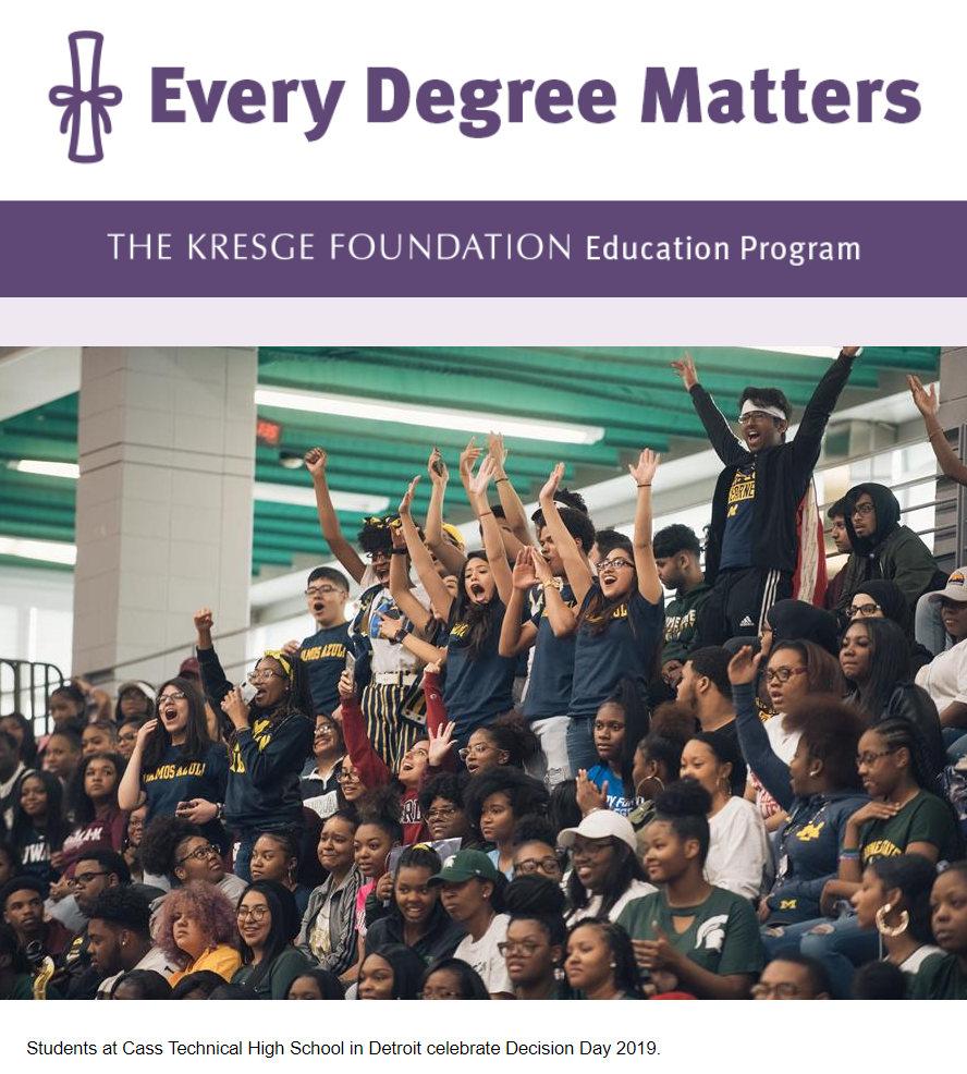Screenshot of November issue of Every Degree Matters