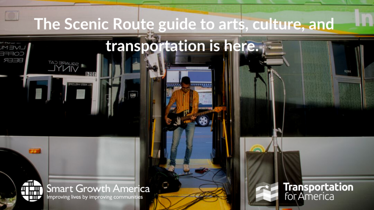 Artists and creatives can help communities organize and advocate for more equitable transportation investments. Through creative placemaking, arts and cultural approaches can also help shepherd transportation projects through the community input process by facilitating meaningful participation early and often. This graphic was developed by artists to illustrate the importance of engaging multiple stakeholders for an inclusive process.