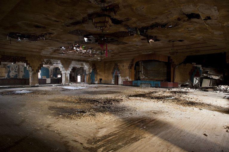 The Vanity Ballroom dance floor as seen in 2010.
