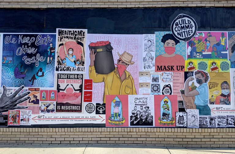 "The ""Fill the Walls With Hope, Rage, Resources and Dreams"" project showcases the vital role of artists during the pandemic."