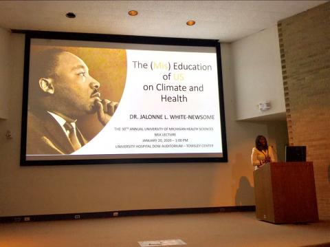 Kresge Environment Senior Program Officer Jalonne L. White-Newsome delivers MKL Day lecture