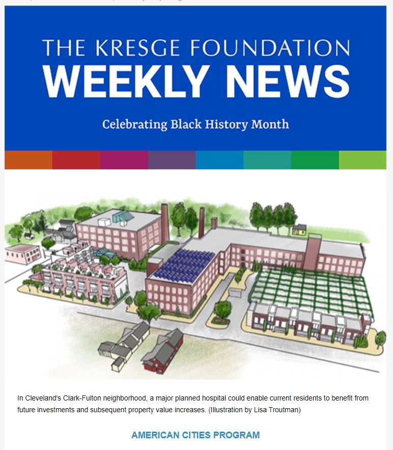 Kresge Foundation weekly newsletter for 2-18-2021
