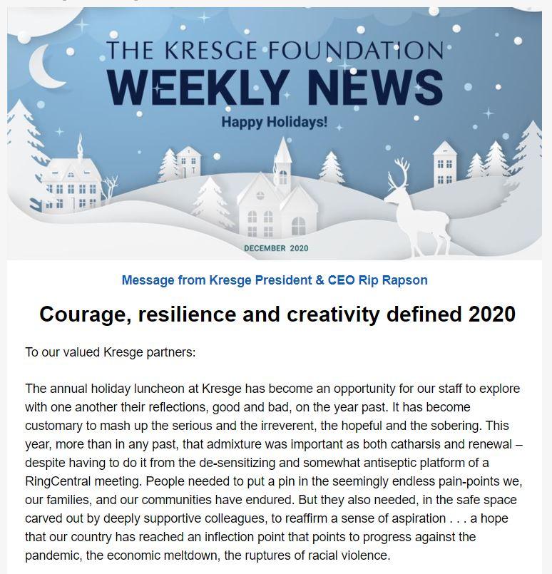 Newsletter 12-17-20